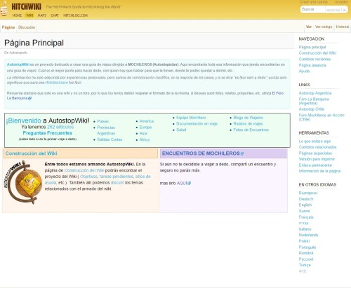 Portada de Hitchwiki (en español)
