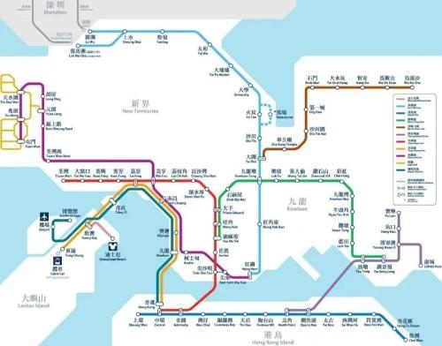 Mapa del MTR de Hong Kong