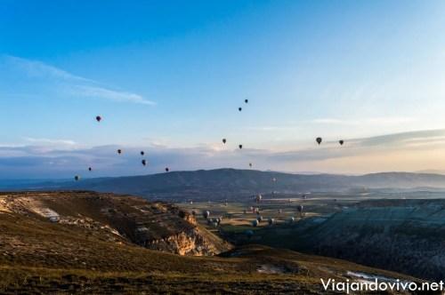 Amanecer en la region de Capadocia, Turquia