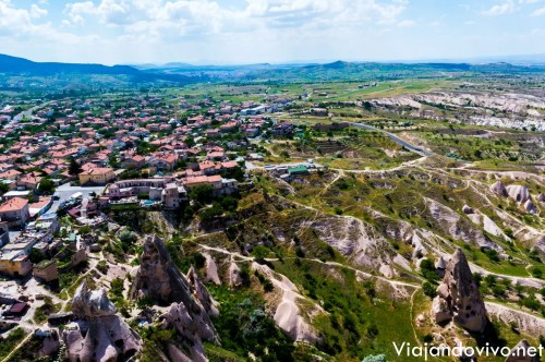 Vista panoramica de Capadocia