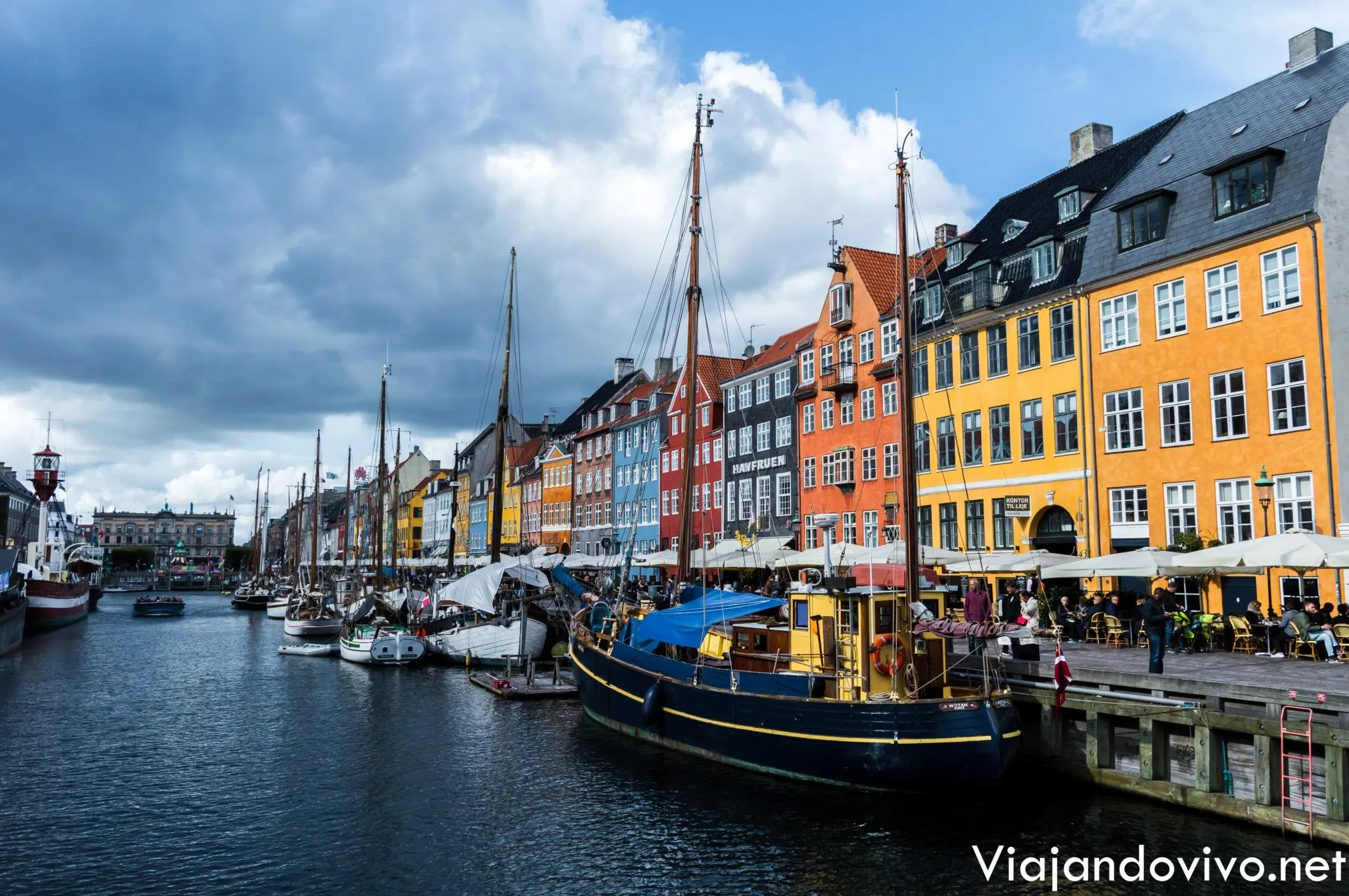Casas de colores en Copenhague