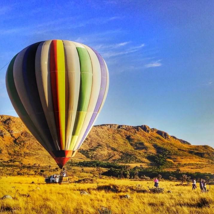 voo de balão na chapada