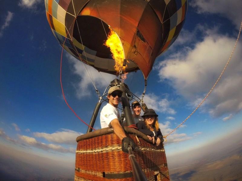 voo de balao na Chapada dos Veadeiros