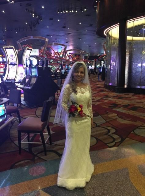 Vestida de noiva em Las Vegas