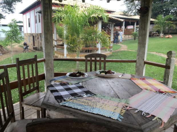 Área externa do Restaurante Tutu na Gamela