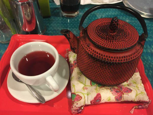 Chá de Frutas Vermelhas no Café Cultural