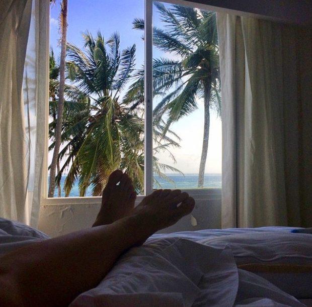 Vista da nossa suíte no Hotel Casablanca em San Andrés