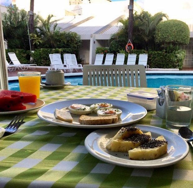 Café da Manhã no Hotel Casablanca em San Andrés