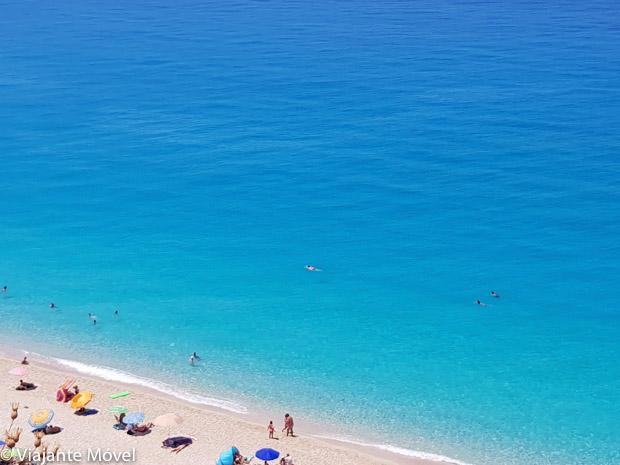 mar turquesa em Lefkada