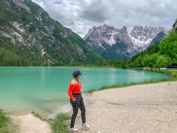 Lago di Landro nas Dolomitas na Itália