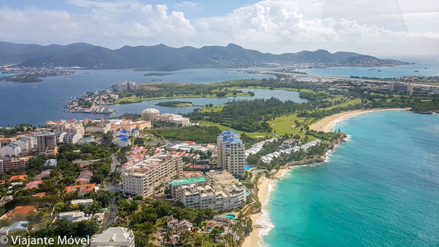 Vista panorâmica de St. Martin - Ilha do Caribe