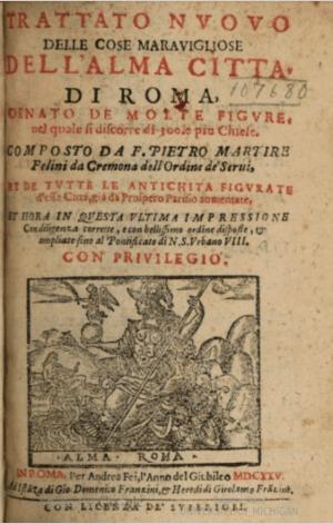 Trattato nuovo delle cose meravigliose dell alma citta di roma di Pietro Martire