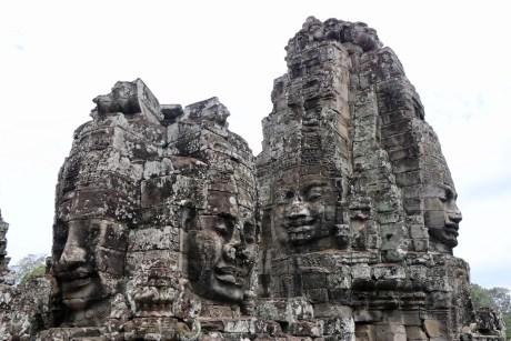 Caras de Buda en el Bayon