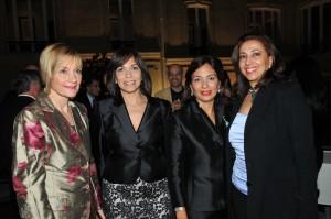Susana de Villanueva, Thelma Martínez, Haydee Kuret de Rainieri e Isabel Vásquez