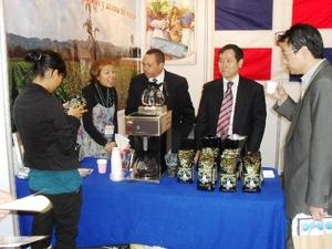 Muestra de cafe en Korea