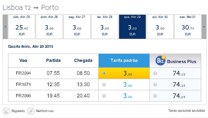 Promoções low cost na Ryanair