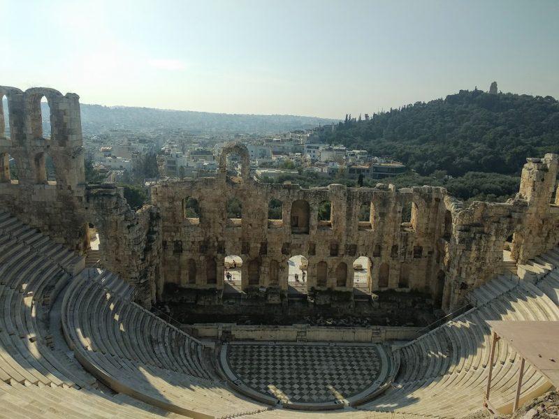 Vista de todo el anfiteatro del Odeón
