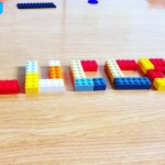 Desenho do nome com Lego
