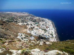 Vistas de Kamari desde Ancient Thira