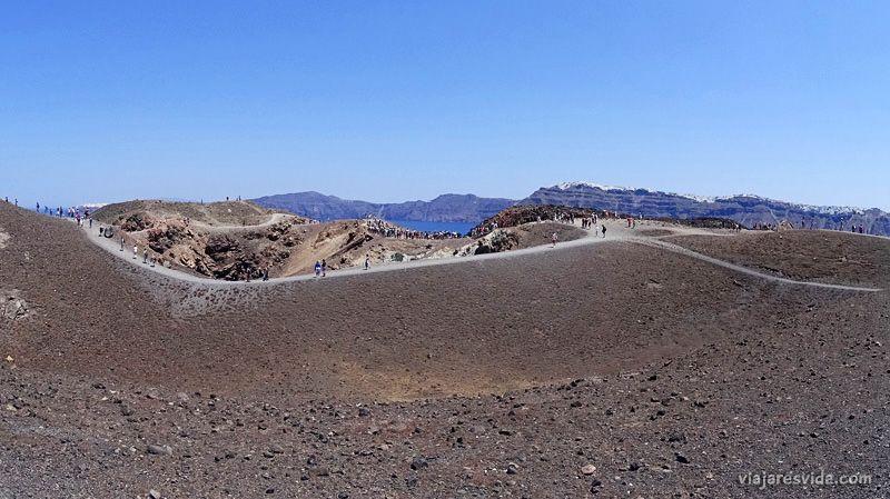Nea Kameni en Santorini