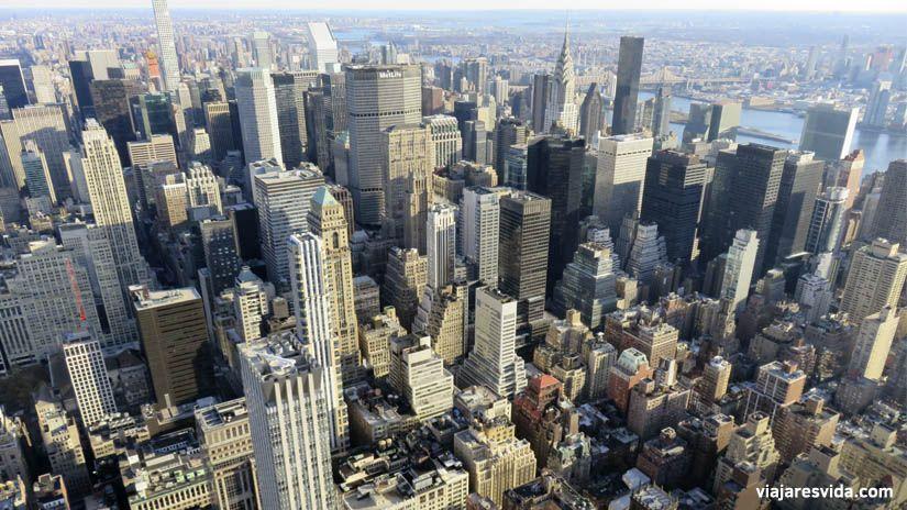 Vistas desde el Empire State Building de Nueva York