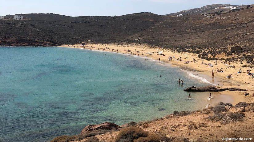 Playa Agios Sostis en Mykonos