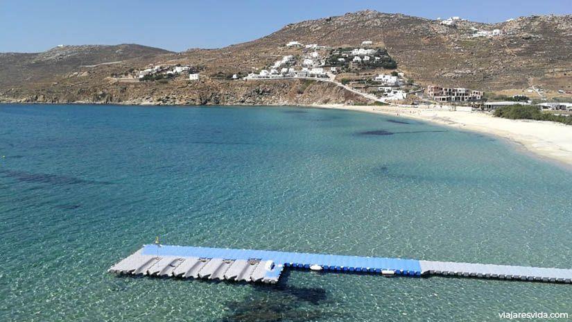 Playa Kalo Livaldi en Mykonos