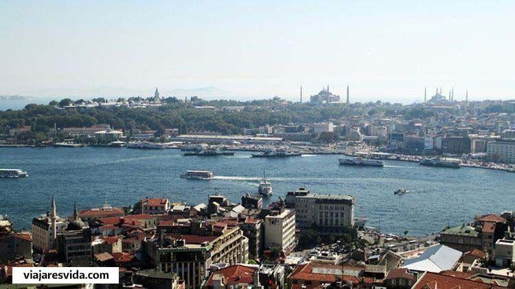 Vista del cuerno de oro de Estambul