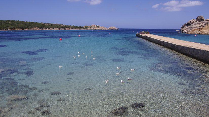 Cala Spalmatore en la isla de la Maddalena (Cerdeña)