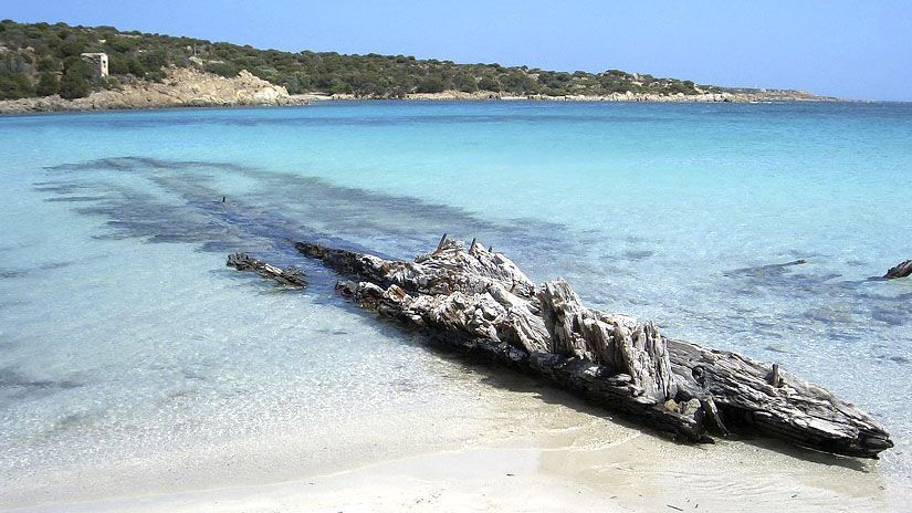 Playa del naufragio en Caprera