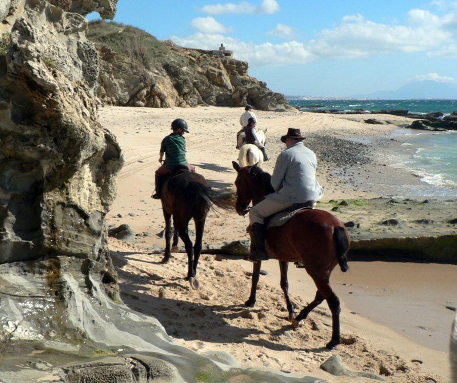 Excursión a caballo por la playa en Tarifa