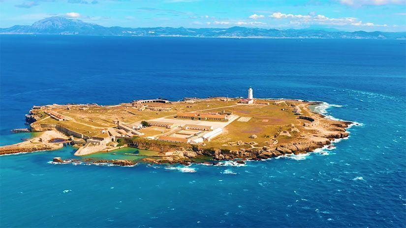 Isla de Tarifa a vista de pájaro