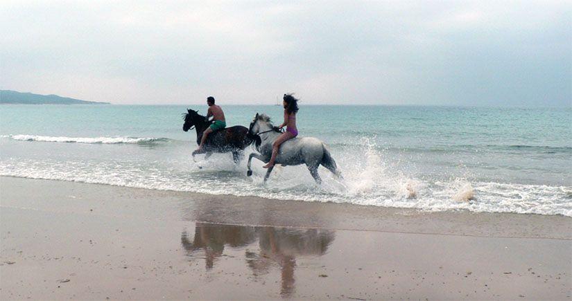 Paseo a caballo en las playas de Tarifa