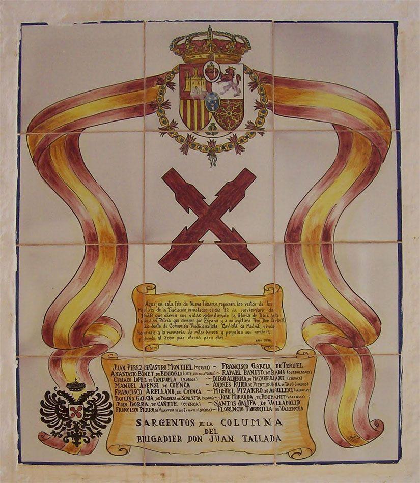 Placa conmemorativa de los fusilamientos de Tabarca