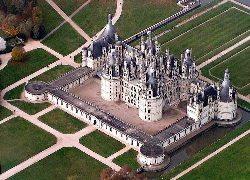 Château de Chambord desde el aire