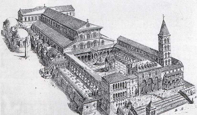Antigua basílica de San Pedro del Vaticano de la época de Constantino