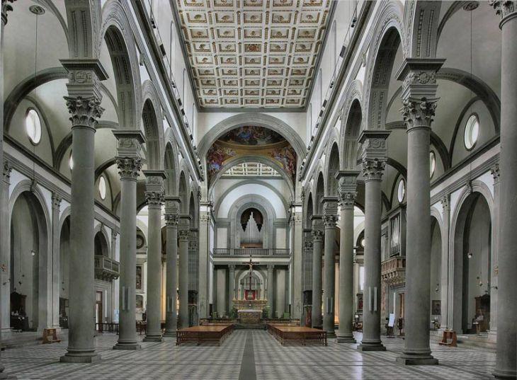 Basílica de San Lorenzo en Florencia, Italia
