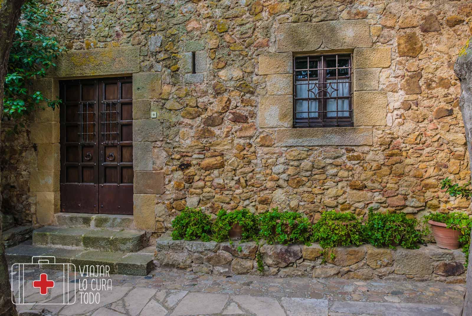 Una fachada típica de Pals