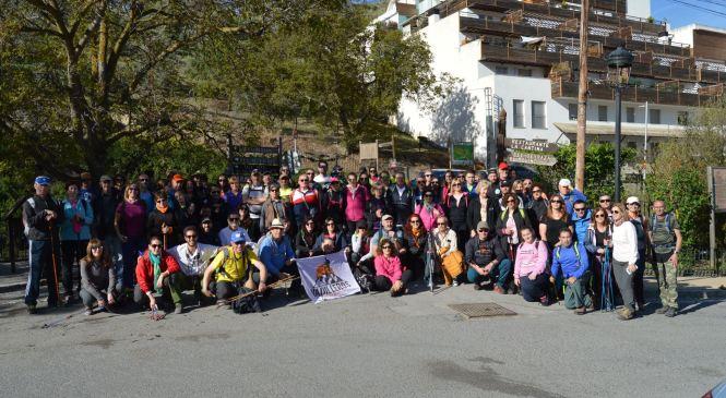 Los vadilleros realizaron la ruta por los puentes colgantes de Los Cahorros en Monachil
