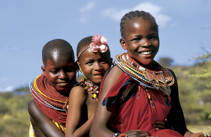 Fillettes-Massaïes