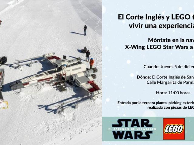 La X-Wing de Star Wars a escala real en piezas de LEGO