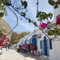 Na bela Ilha de Djerba, Tunísia