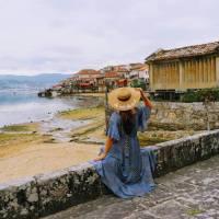 No pitoresco pueblo de Combarro, Pontevedra, Galiza