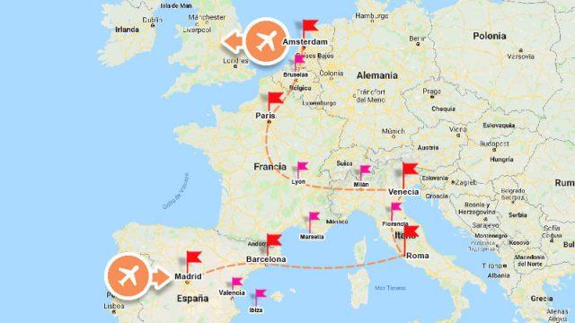 Ruta para tu primer viaje a Europa