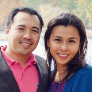 Caroline Lontoc-Diaz, with husband Vincent