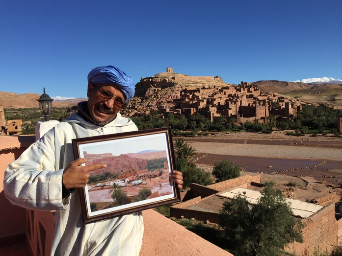 Mr. Action at his inn overlooking Ait Ben Haddou