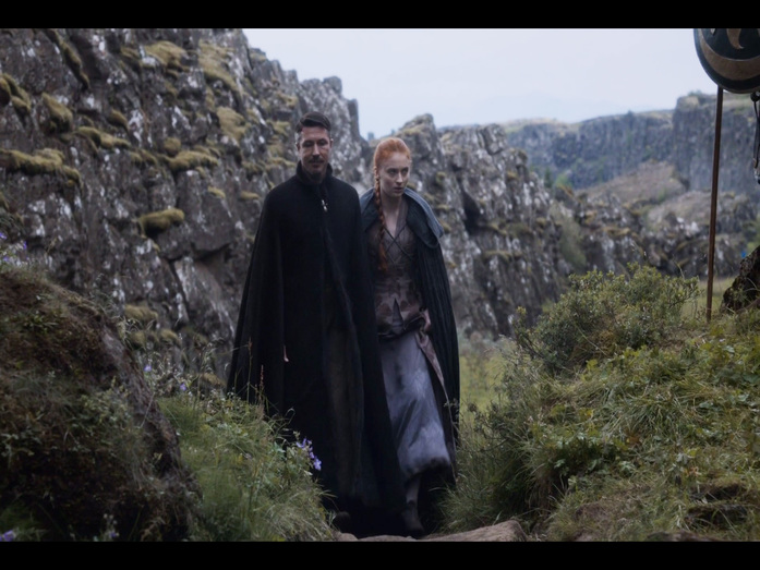 Littlefinger and Sansa in the Eyrie