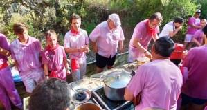Caracoles a la riojana en batalla del vino