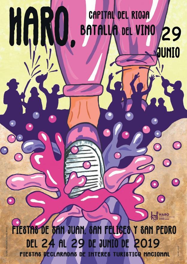 Cartel de la Batalla del Vino de Haro 2019