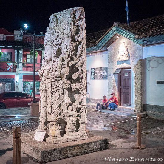 Entrada al Museo de Arqueología en Copán Ruinas.